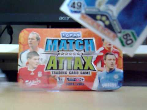 Opening the Match Attax 2009 Tin