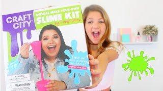 Testing KARINA GARCIA'S Target SLIME KIT | How to make Cloud, jiggly, clear glitter Slime