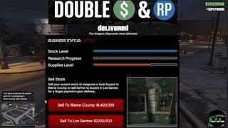 GTA 5 Gunrunning Double $ (Selling FULL Stock From Bunker $2,478,000)