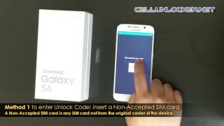Unlock Samsung Galaxy S6 Tutorial & Guide - SM-G920A, SM-G920F, SM-G920W8 Network AT&T, Rogers
