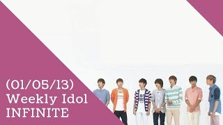 [Legendado] 130501 Weekly Idol - INFINITE (1/2)