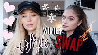 BESTFRIENDS SWAP STYLES:EDGY VS GIRLY! WINTER EDITION