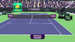 Li Na Argues With Referee After An Amazing Challenge In The Final Game VS Wozniak - March 12th, 2014