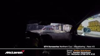GT4 2017 Slovakiaring Race #2 HIGHLIGHTS | McLaren 570S Onboard