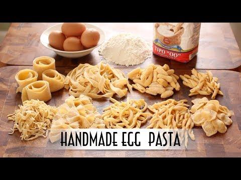 Handmade Egg Pasta Hand Rolled & Shaped 9 Ways