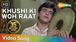 Khushi Ki Woh Raat Aa Gayee (HD) | Dharti Kahe Pukarke Songs | Jeetendra | Nanda | Filmigaane