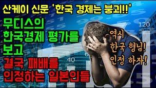 무디스의 한국경제 평가를 보고, 결국 한국을 인정하는 일본인들