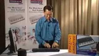 Asian Playing Keyboard drums