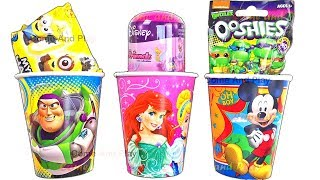 Cups Surprise Toys with Disney Frozen TMNT Ooshies and Minions Toys