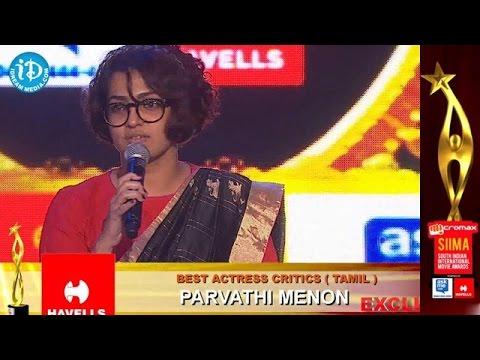SIIMA 2014, Malayalam@Best Actress Critics Tamil Parvathi Menon