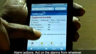 Network monitoring software - OpManager SmartPhone GUI