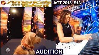 Oscar and Pam Singing Dog He