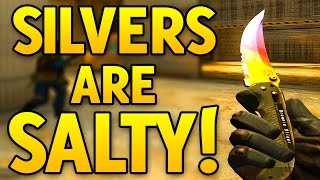 CS GO SILVERS ARE SALTY! - CSGO Competitive Game
