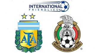 FIFA 19 ARGENTINA VS MEXICO INTERNATIONAL FRIENDLY