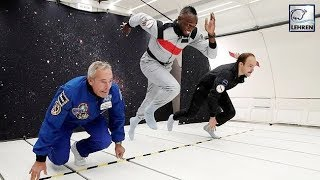 Former Speedster Usain Bolt Enjoys Low-Gravity While Sipping On Champagne!