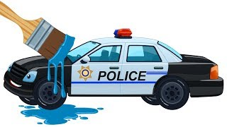Learn Colors With Cars Kids Police Car Coloring Book | Learning Video For Children By Kids Channel