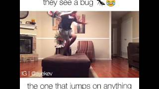 Different types of people when they see bugs