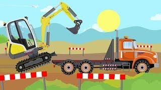 #Excavator Mini and Colorful Trucks - Tree Planting | Pojazdy Drogowe - Sadzenie Drzew Road Vehicles