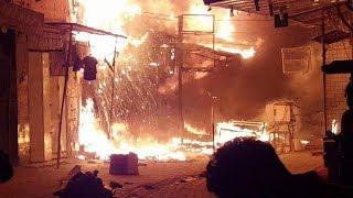 حريق كبير في ميسان شارع التربيه