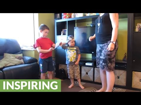 Kids find out they're having another sibling