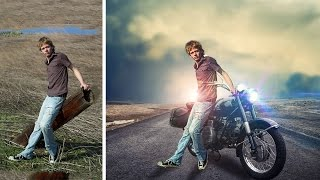 Change background and new fill adjustment layer | photoshop manipulation tutorial
