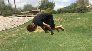 How to do a front flip for beginners flat ground