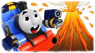 Train Thomas to the Rescue - Mario and Volcanic Eruption