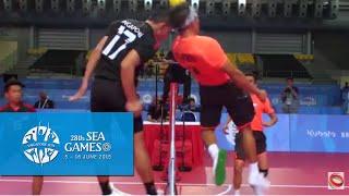 Sepaktakraw Men's Regu Philippines vs Singapore (Day 8) | 28th SEA Games Singapore 2015