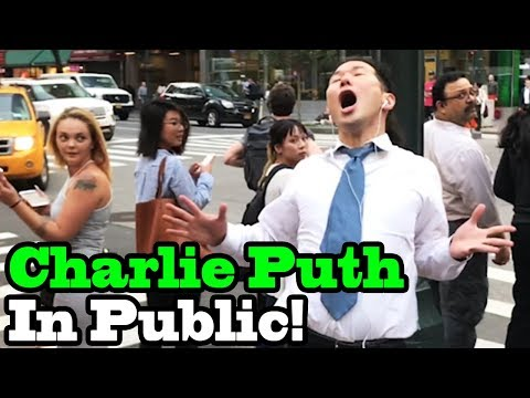 """Charlie Puth - """"How Long"""" - SINGING IN PUBLIC!!"""