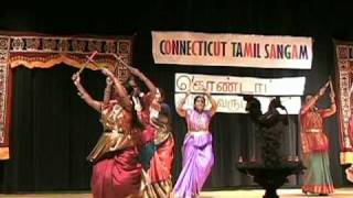 Kolatam dance during Tamil New Year function