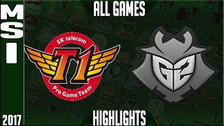 SKT T1 vs G2 Esports MSI Final Highlights - MSI 2017 Grand Final - SKT vs G2