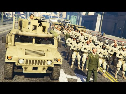 watch GTA 5 PLAY AS A COP MOD - MILITARY TAKEOVER!! MARTIAL LAW Army Police Patrol!! (GTA 5 Mods Gameplay)