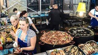Best Street Food in Kiev, Ukraine. Huge