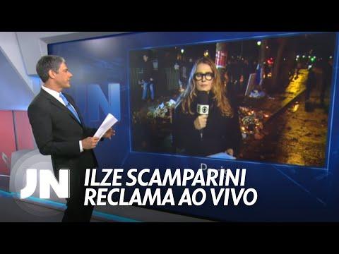 Ilze Scamparini reclama ao vivo e leva pito de William Bonner 16 11 2015