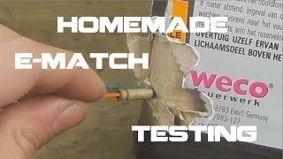 HOMEMADE IGNITER TESTS - Nick Matches - Nicolas Salenc PBP