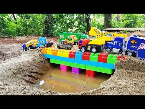 Build Bridge Blocks Toys for Children Construction vehicles for kids 2 Nursery Rhymes