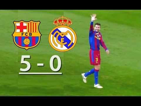 Barcelona vs Real Madrid  (5-0)