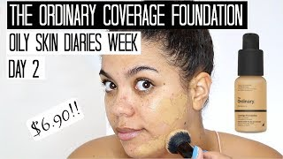 The Ordinary Coverage Foundation Review Oily Skin | Oily Skin Diaries Week Day 2