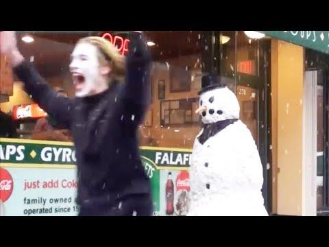 SCARY SNOWMAN PRANK 2013 FULL SEASON 31 Mins