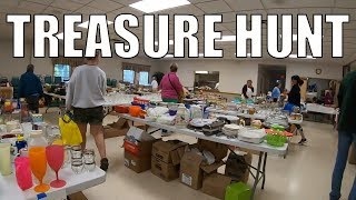 Rummage Sale Treasure Hunt and A Scrap Yard Trip - Antiques and More...