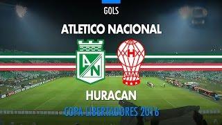 Gols - Atletico Nacional 4 x 2 Huracan - Libertadores - 03/05/2016