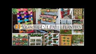 21 Awesome DIY Pallet Planters