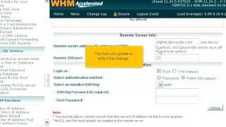How to set your WHM server to use a remote MySQL server