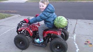 Funny Clown Giant Watermelon Accident  Kids Fun Skit