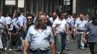 Palermo, sciopero del personale dell'Amat. Le immagini del corteo.