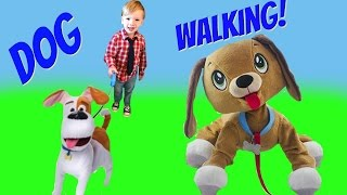 Peppy Pups Secret Life of Pets Best Friend Max Go for a Walk and Open Toy Surprises | Fizzy Toy Show