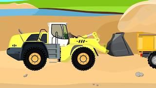Vehicles For Kids | Loader, Truck - Sand | Maszyny Budowlane Dostawa Piasku