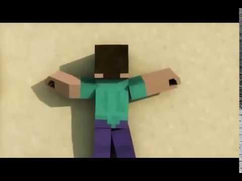 Animacion de Minecraft Pelea con un Golem
