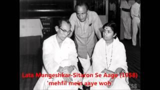 Lata Mangeshkar - Sitaron Se Aage (1958) - 'mehfil mein aaye woh'