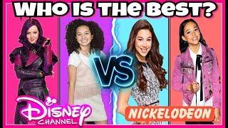 Famous Disney Girls VS Nickelodeon Girls Musical.ly Battle   Top Famous Celebrity Girls Musically